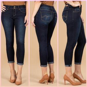 2/$20🔥 cropped cuffed hem jeans size 12
